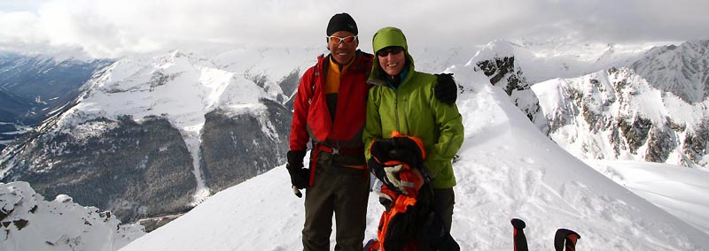 Sharon and Lee on Avalanche Crest